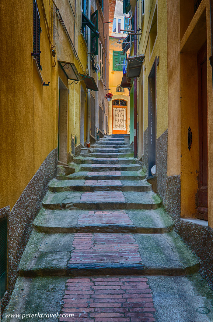 Alley in Vernazza, Italy