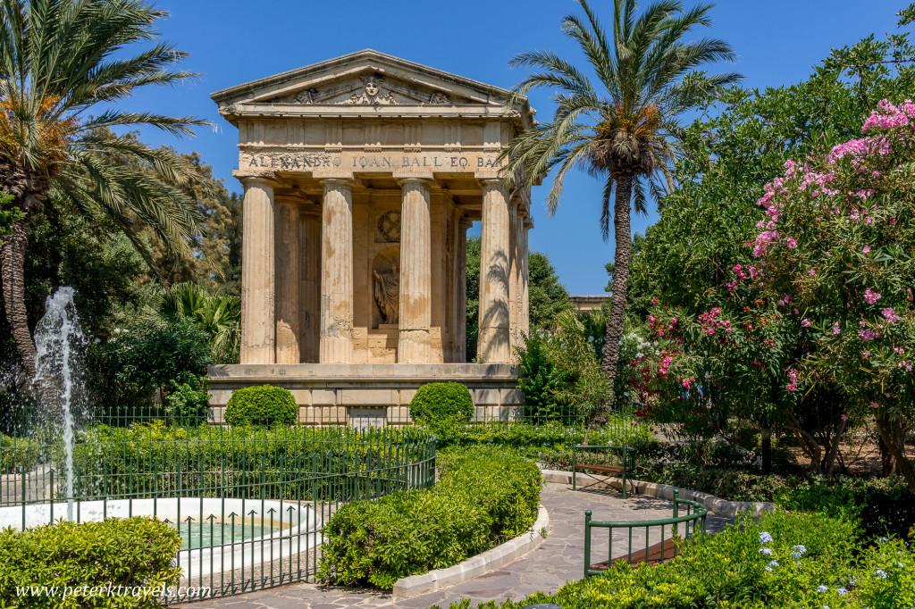 Replica Roman Temple, Valletta, Malta.