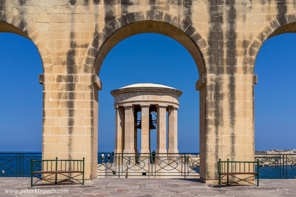 Siege Bell, Valletta, Malta.