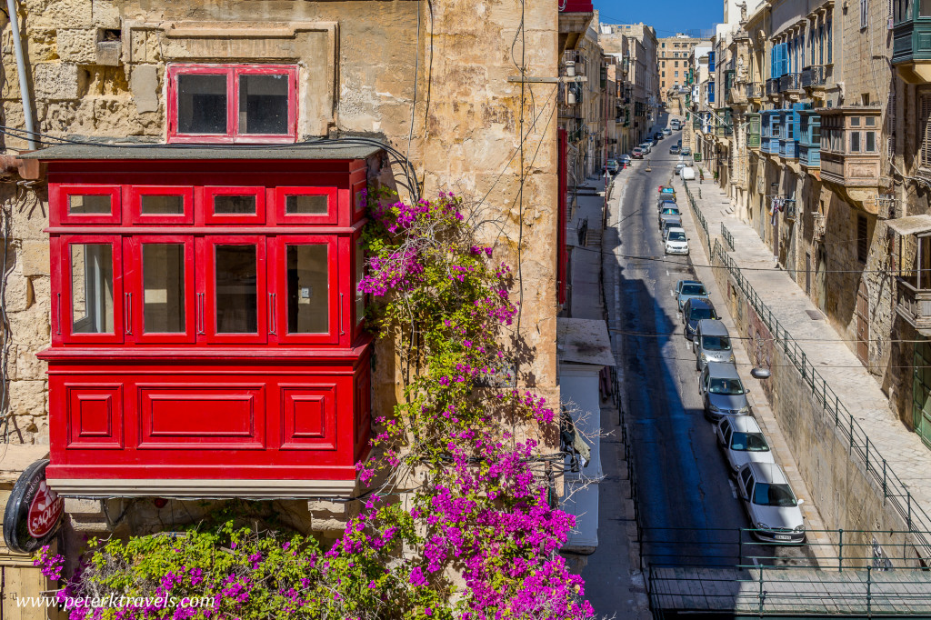 Red balcony, Valletta.