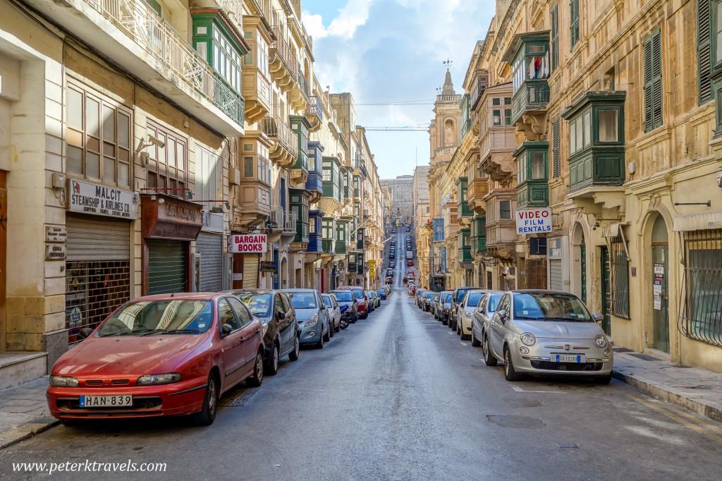 Street view, Valletta.