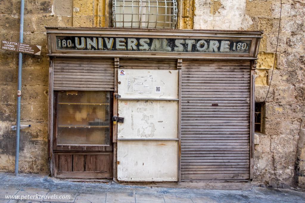 Universal Store, Valletta.