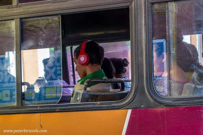 Bus rider, Mérida.