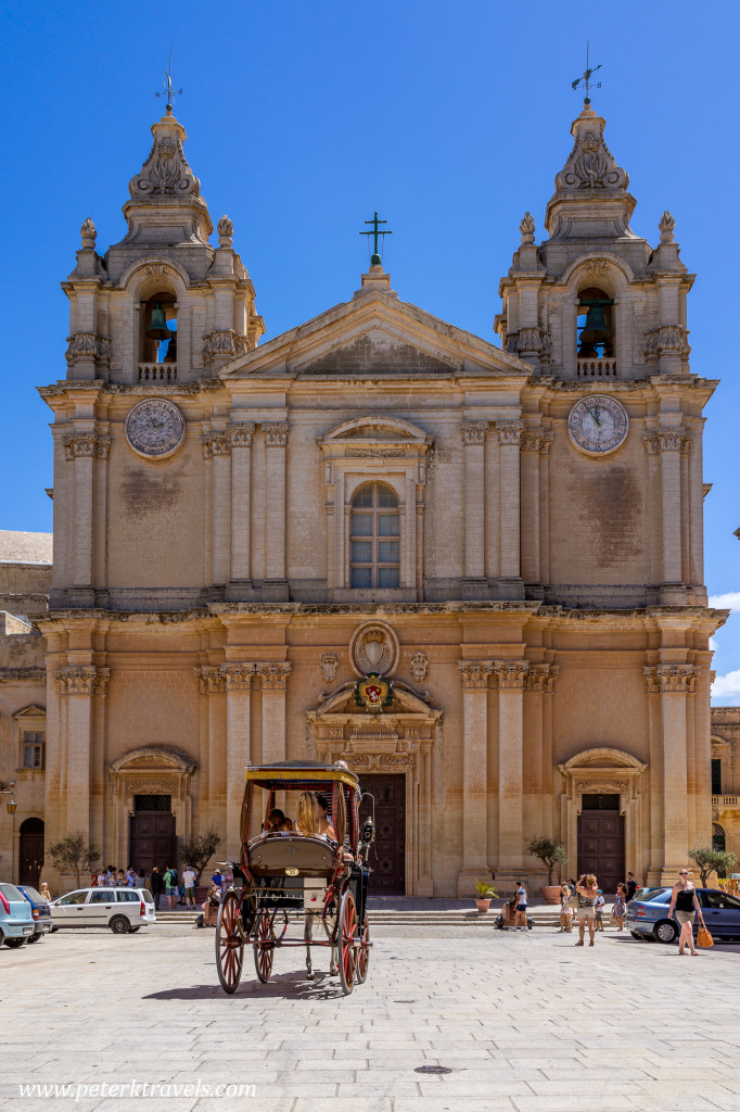 St. Paul's Cathedral, Mdina, Malta.