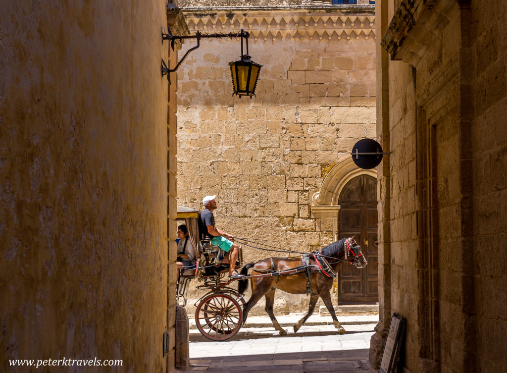 Horse-drawn carriage, Mdina, Malta.