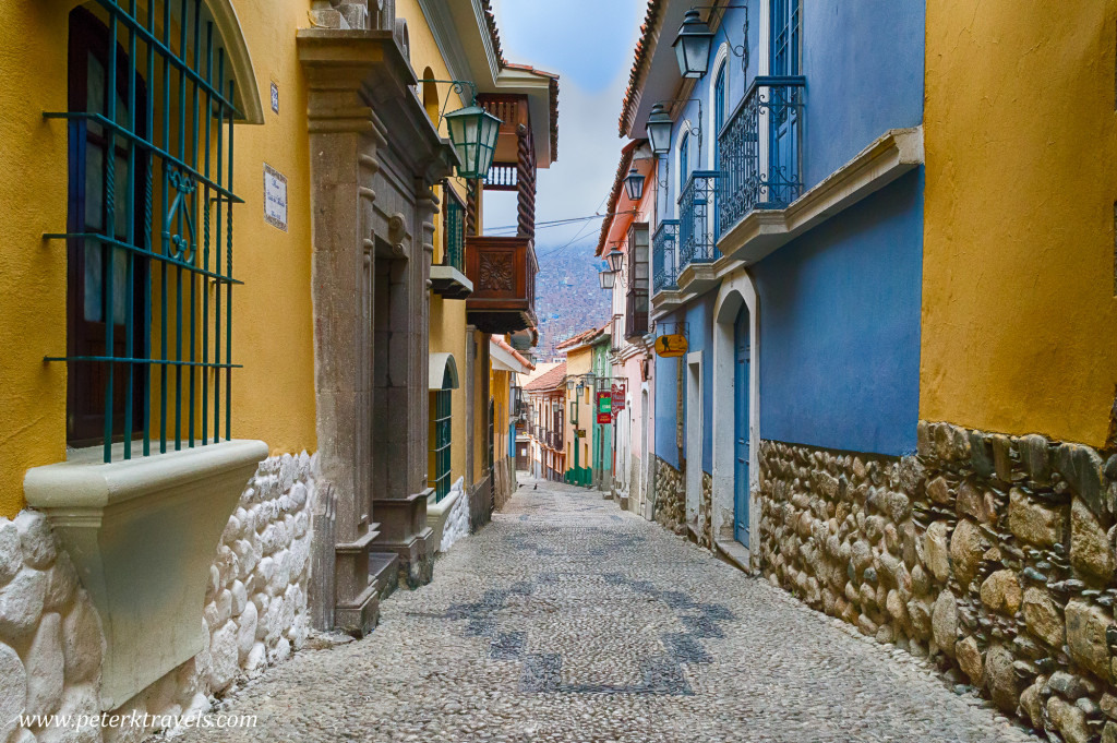 Calle Jaen, La Paz, Bolivia.