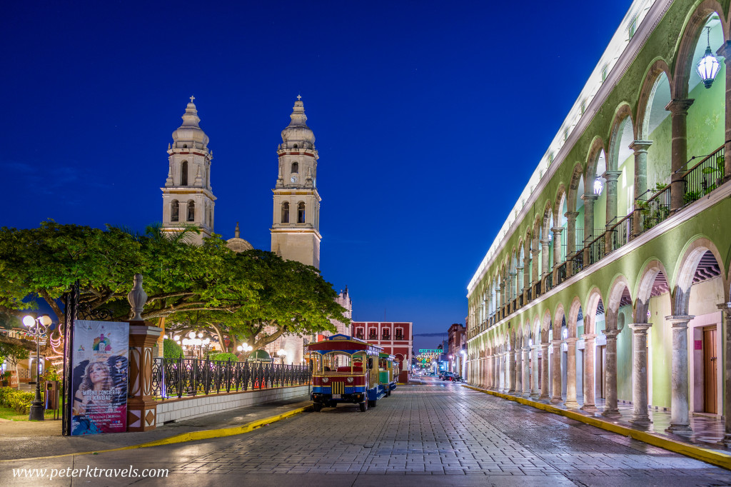 Square in Campeche.