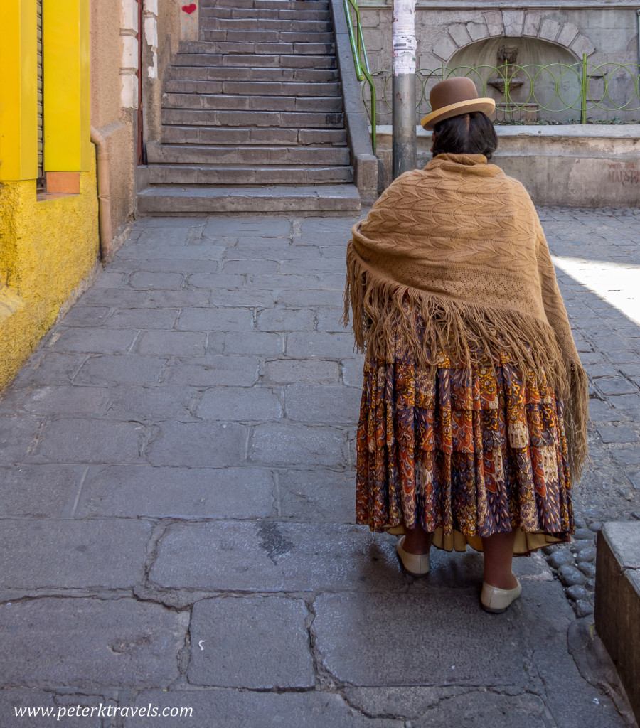 Woman in La Paz, Bolivia.