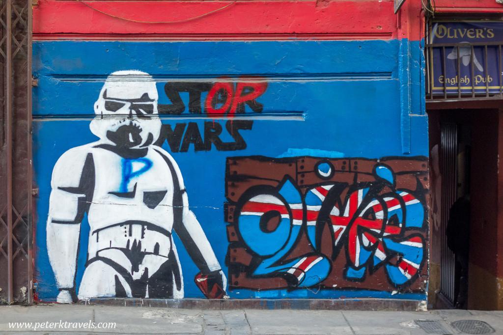 Street art, La Paz, Bolivia.
