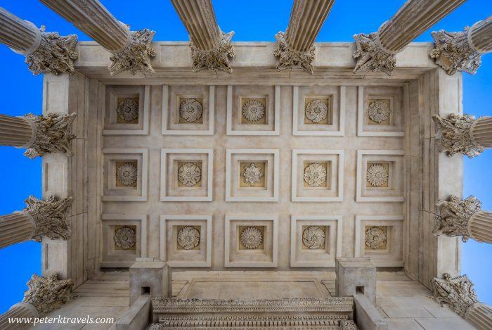Maison Carrée ceiling, Nimes.