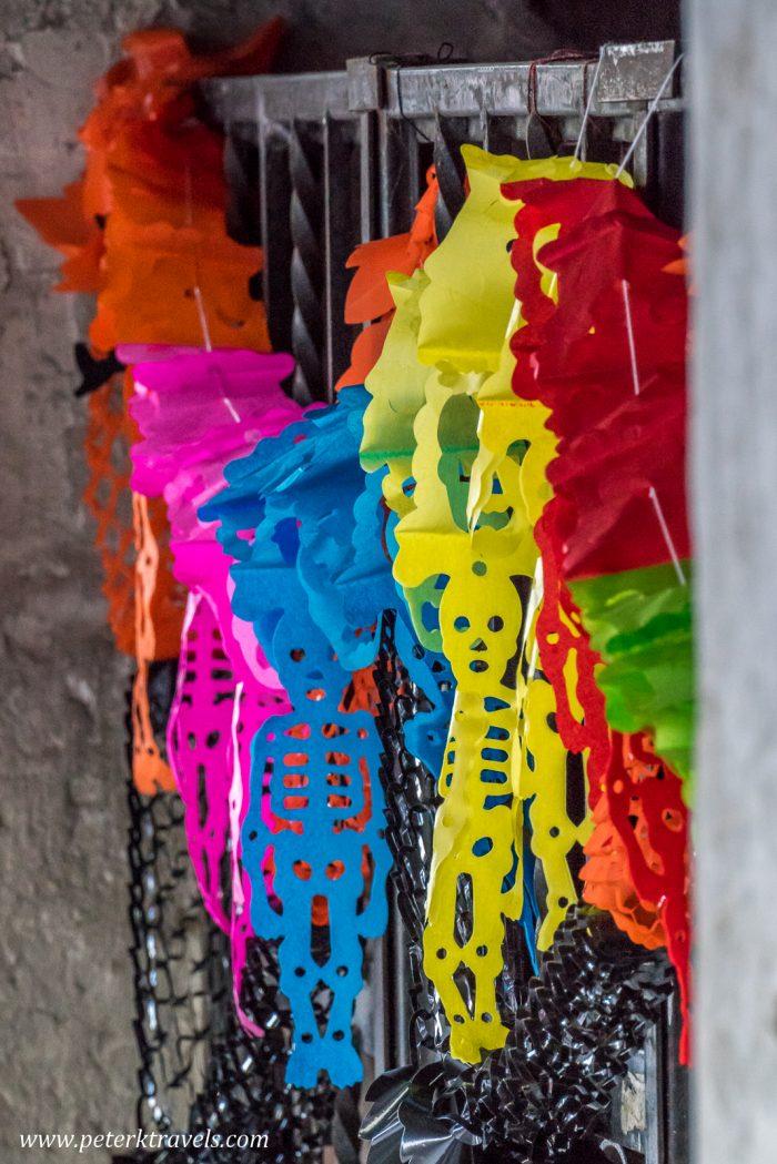 Skeleton decorations, Cuetzalan.