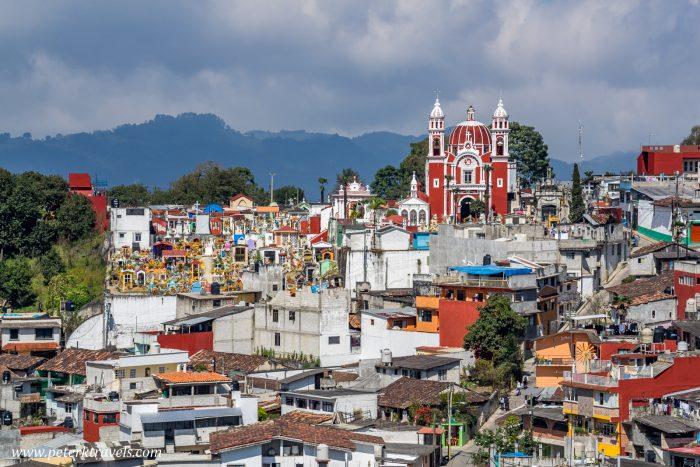 Church and cemetery, Zacapoaxtla, Puebla.