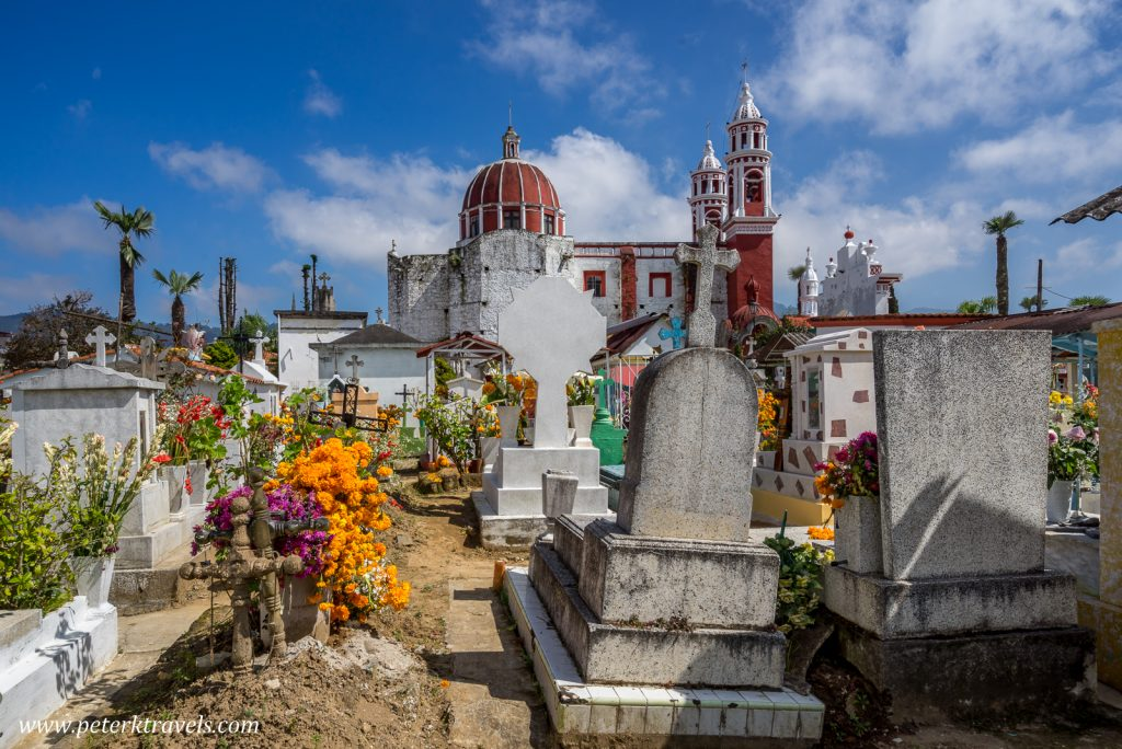 Church and cemetery, Zacapoaxtla, Puebla.