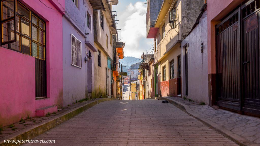 Morning street, Zacapoaxtla, Puebla.