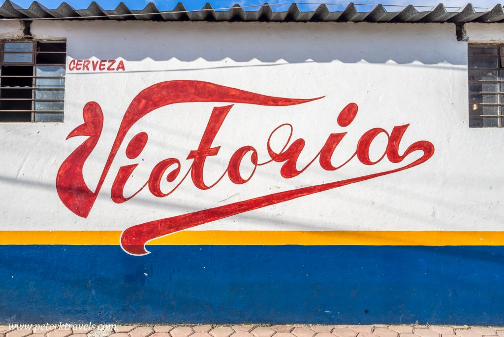 Beer sign, Zacapoaxtla, Puebla.