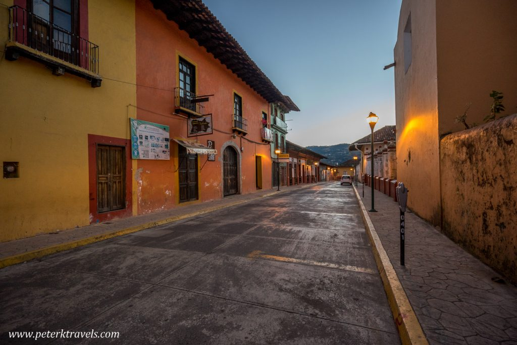 Early morning street, Zacapoaxtla, Puebla.