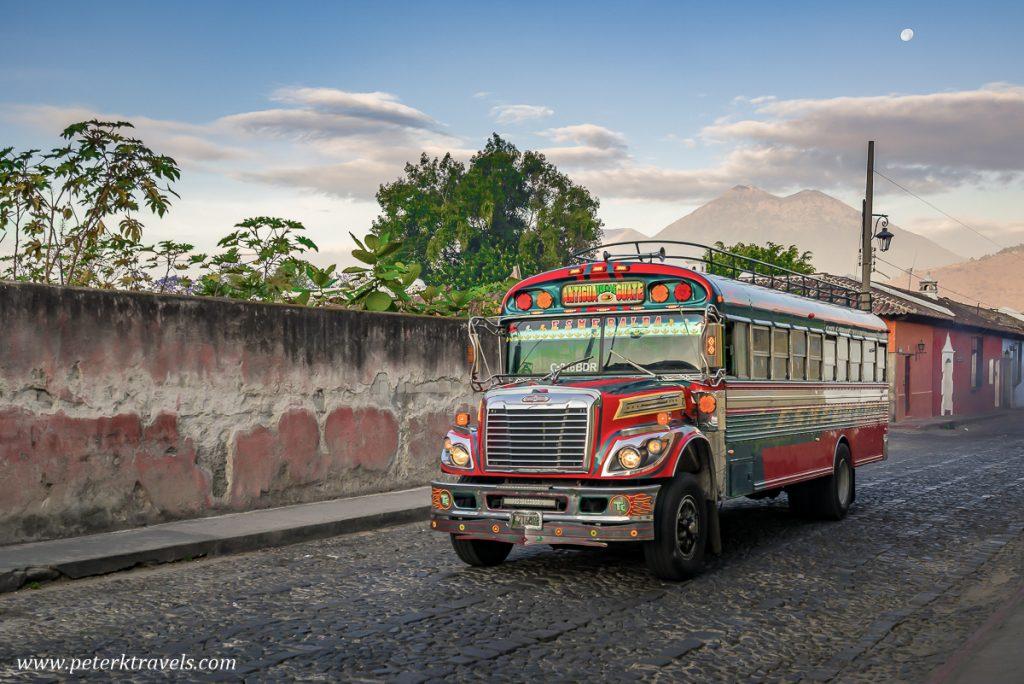 Chicken Bus, Antigua Guatemala