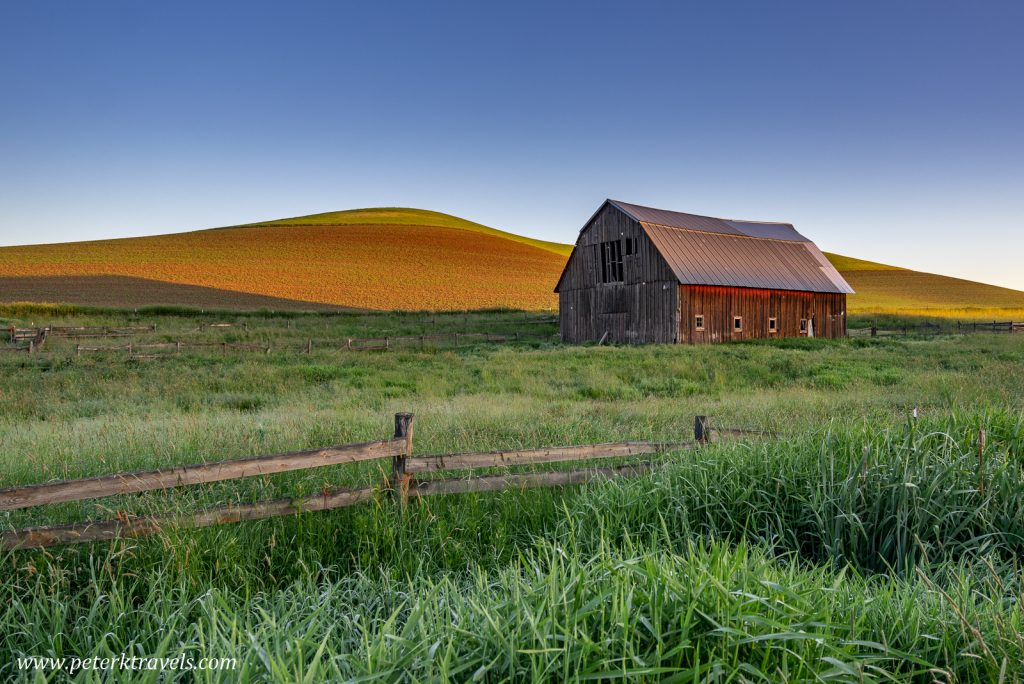 Barn at Sunrise, the Palouse.