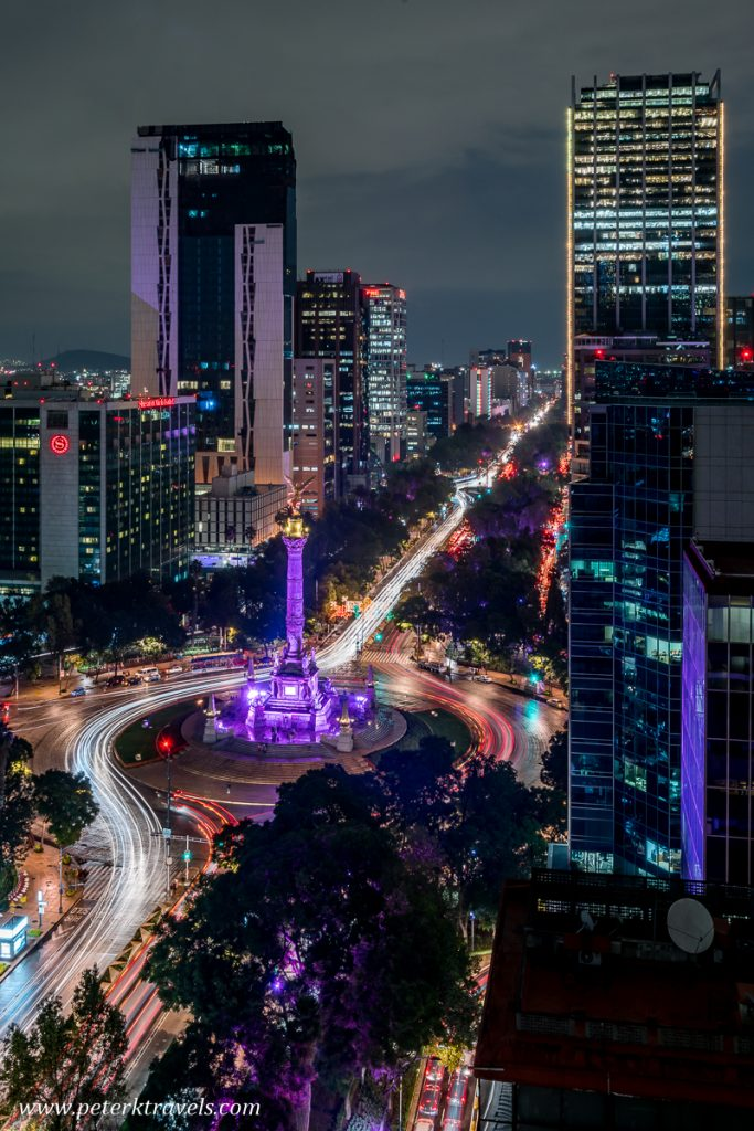 The Paseo de la Reforma and El Ángel de la Independencia, Mexico City.