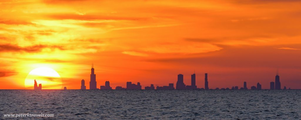 Chicago Skyline From Michigan City, Indiana