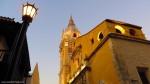 Cathedral at dusk, Cartagena