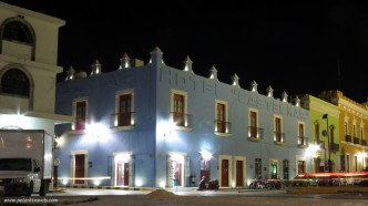 Castelmar Hotel at night.