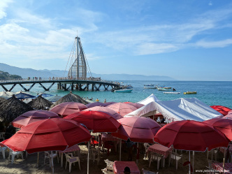 Playa Los Arcos and Pier, Puerto Vallarta
