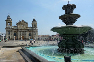 Cathedral and Fountain, Guatemala City