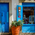 Blue door and Window, Guanajuato