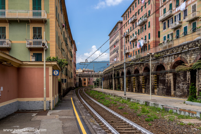 Camogli train tracks