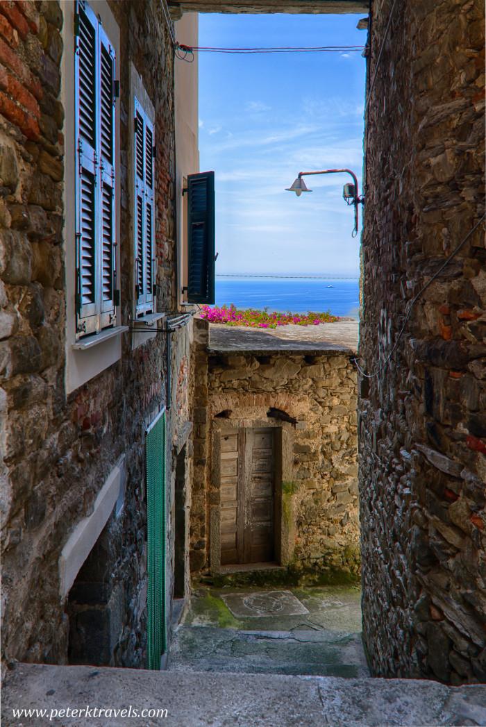 Alley in Corniglia, Italy.