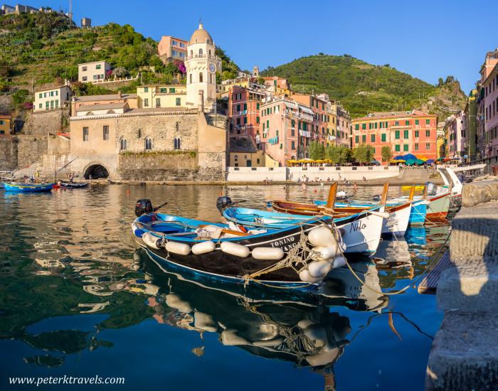 Harbor in Vernazza, Italy.