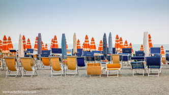Chairs and Umbrellas, Monterosso al Mare, Italy
