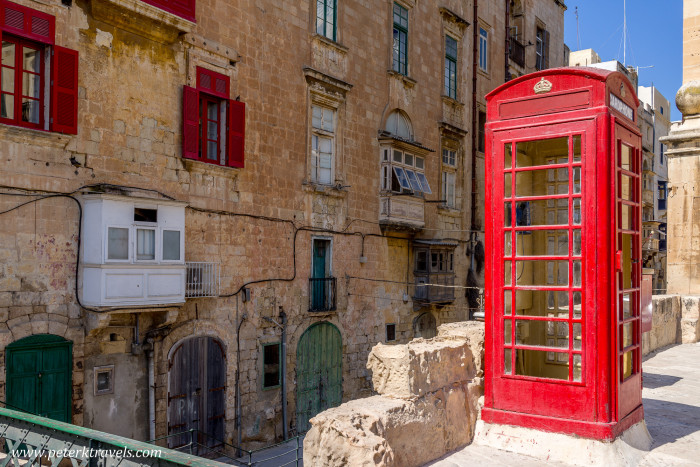 Red phone booth, Valletta.
