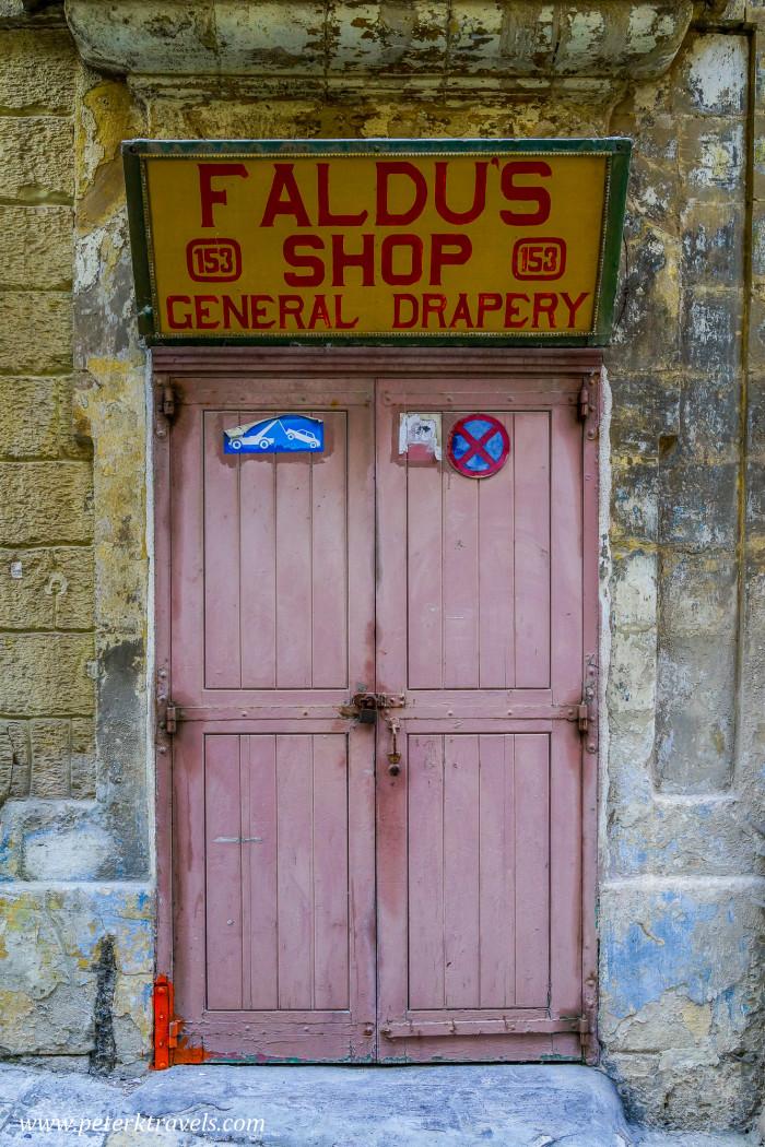 Faldus Shop, Valletta.