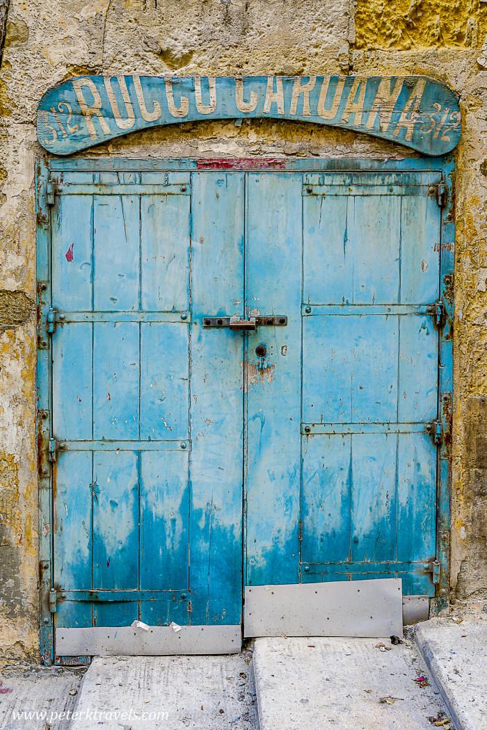 Blue door, Valletta.