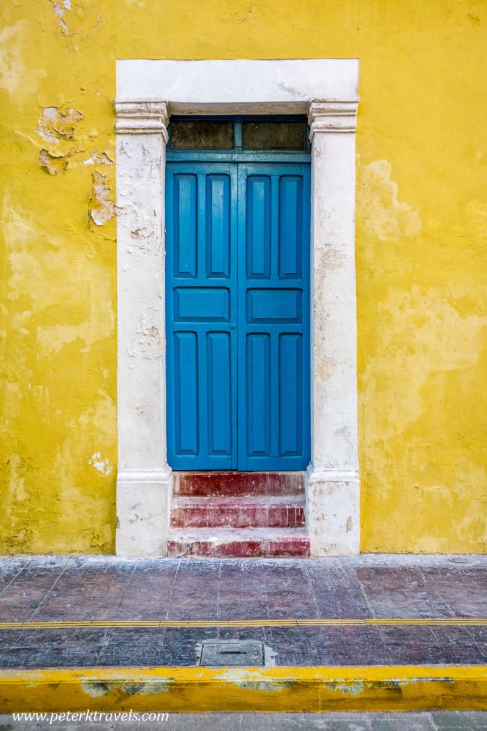 Blue door, Campeche.