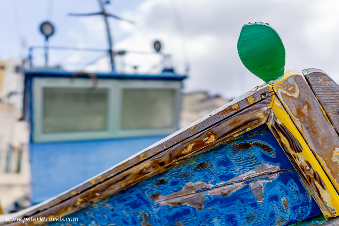 Boat at Birgu, Malta.