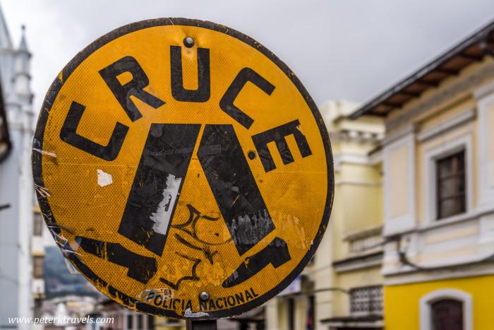Crosswalk, Quito.