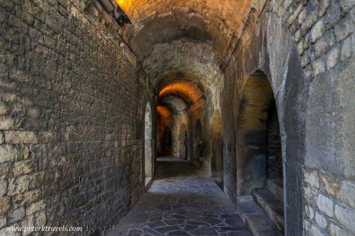Inside Roman arena, Nimes.
