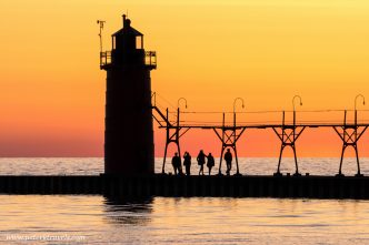 Sunset in South Haven, Michigan.